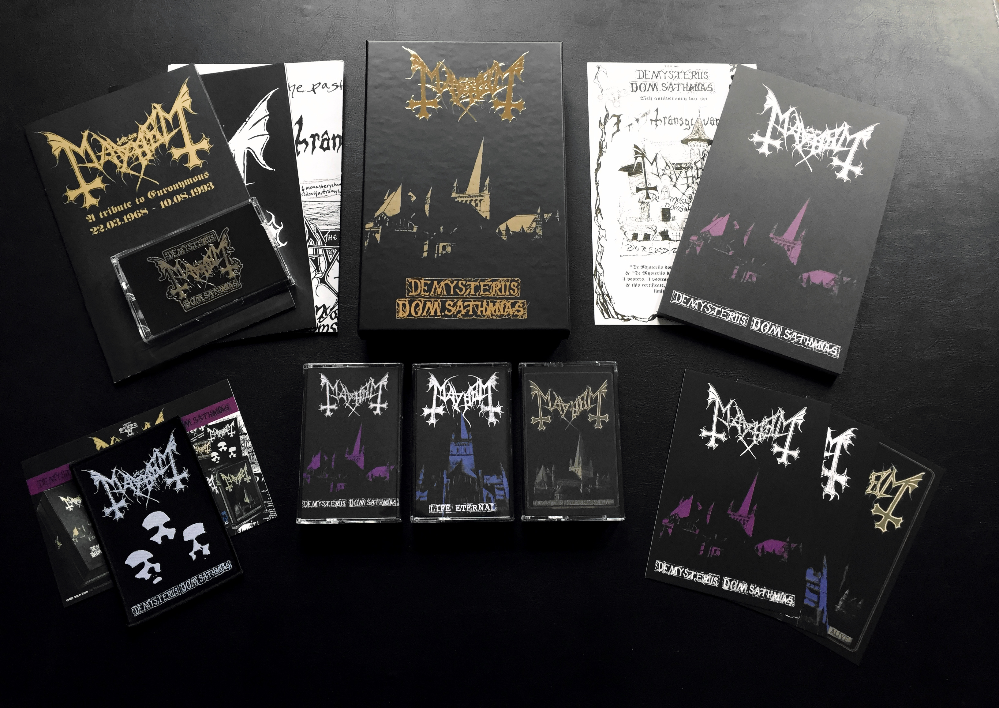 Mayhem Nor De Mysteriis Dom Sathanas 3 Tape Box Darkness Shall Rise Productions
